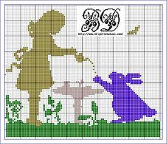 Free Alice in Wonderland chart by Bridgitte Dadaux - so cute!