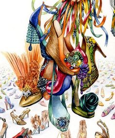 sunny gu illustration, beautiful shoes!!
