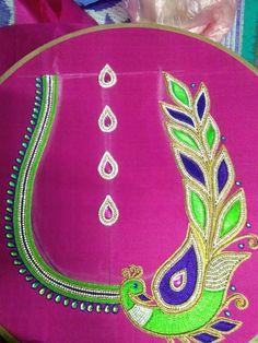 Akhila Gokulakrishnan's media statistics and analytics Peacock Blouse Designs, Peacock Embroidery Designs, South Indian Blouse Designs, Cutwork Blouse Designs, Kids Blouse Designs, Simple Blouse Designs, Saree Blouse Neck Designs, Bridal Blouse Designs, Applique Designs