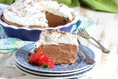 Super easy to make No Bake Chocolate Mousse Pie is the BEST dessert for any occasion. Holidays, picnics or family dinner, it's rich, creamy and addicting.