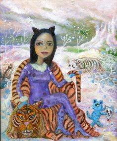 Tiger Queen painting by Los Angeles artist Conrad Haberland