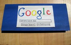 Google Fathers Day Card. Tweaked this and did it for my Dad's Birthday!