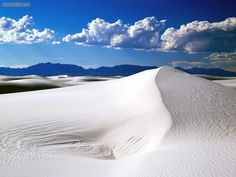 White Sands, New Mexico - great overnight camping spot and just a short distance from where I was born.