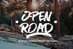 OPEN ROAD Brush Font @creativework247