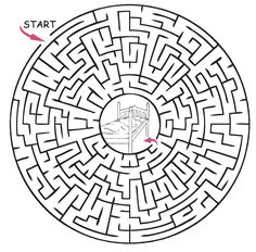 maze | Castle Maze - Princess Puzzles and Activities for Kids