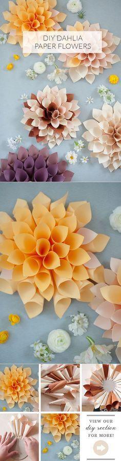 Flores de papel