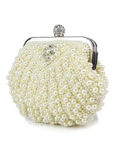 Sweet Handmade Beading Pearl Evening Bag For Women-No.2
