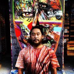 David Choe x Fin Bec wine. Artist portrait