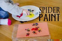 SPIDER PAINT: a silly way to play and paint.