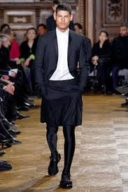 Resultado de imagem para man skirt+suit