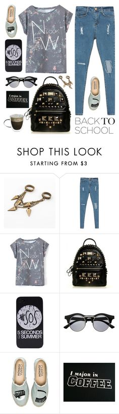 """""""The First Day of School"""" by dora04 ❤ liked on Polyvore featuring Retrò, Chiara Ferragni, BackToSchool and stylemoi"""