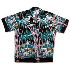 FREE SHIPPING - EVERY ORDER, EVERY DAY! Pineapple Juice -Hawaiian Palm - From Here to Eternity (Montgomery Clift )Vintage Hawaiian shirt Replica
