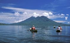 Lake Atitlán is Central America's deepest lake, at 1,114 feet