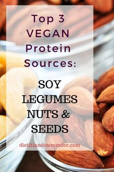 Top 3 vegan protein sources for vegan nutrition.