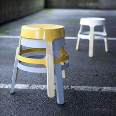 super cute stools with legs shaped like lolly sticks by Finnish designer Sami Kallio