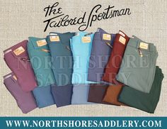 You can never have enough Tailored Sportsman breeches! Come by North Shore Saddlery or visit our website to see our huge selection of colors! FREE SHIPPING!! http://shop.northshoresaddlery.com/The-Tailored-Sportsman_c339.htm