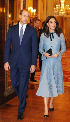 Kate Middleton Debuts Baby Bump in First Public Appearance Since Announcing Pregnancy | The Duchess of Cambridge stepped out for a reception in Buckingham Palace for World Mental Health Day.