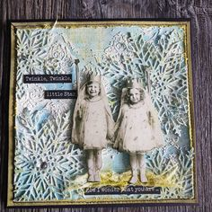 """karen Murdoch on Instagram: """"Getting in the mood for @stampersanonymous and @tim_holtz Christmas stamps release on Facebook tomorrow. So excited to see the new stamp…"""" Get In The Mood, Mixed Media Cards, Stars Then And Now, Little Star, Tim Holtz, Twinkle Twinkle, Instagram Accounts, Paper Dolls, Photo And Video"""