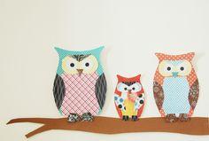 The Pink Doormat: Paper Owl Family
