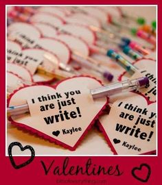 Simple Valentines for teachers to give their students. I want to do this!! Especially #7 or #8.