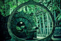 """Las Pozas is near the village of Xilitla, San Luis Potosí, a seven-hour drive north of Mexico City. Edward William Frank James was a British poet known for his patronage of the surrealist art movement..."""
