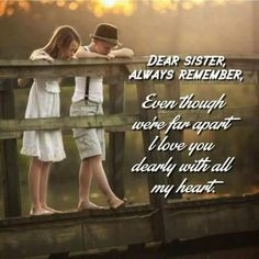 Tag-mention-share with your Brother and Sister Brother N Sister Quotes, Brother And Sister Relationship, Sister Love Quotes, Best Friends Sister, Brother And Sister Love, Dear Sister, Your Brother, Girl Quotes, Sister Heart Tattoos