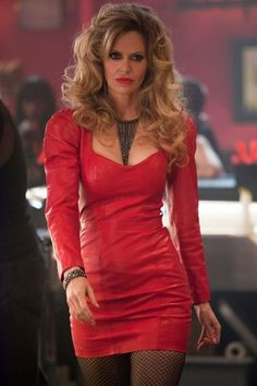 "f4852217c5 designerleather  ""Kristin Bauer Van Straten - True Blood - Vintage North  Beach Leather dress"