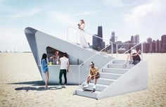 hyuntek yoon's hugging kiosk proposal for chicago architecture biennial