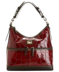 Dooney & Bourke Handbag, Croc Zipper Pocket Sac