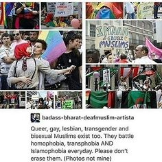 There are Muslims in the LGBT+ community, and they are as much in danger from ISIS' homophobia as white Westerners are. Grunge Hipster, Alec Guinness, Lgbt Memes, Korean Boy, Faith In Humanity Restored, Lgbt Community, Equal Rights, The Victim, Social Issues