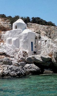 Agios Sozon Chapel, Naxos Island, Greece www.mediteranique.com/hotels-greece/°°