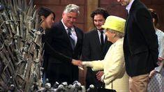The Buzz: The Queen of England Visits the Set of Game of Thrones (HBO)