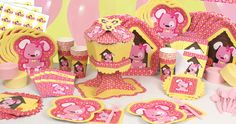 Girl #Puppy Dog Party Supplies  http://www.bigdotofhappiness.com/puppygirl-babyshower-theme.html