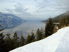 A quiet day on Kootenay Lake, B.C. - view from Highway 3A - photo by Leone Lund