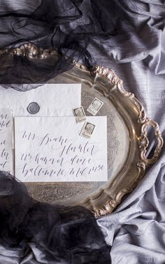Vintage Inspired Calligraphy Invitations | photography by http://reveriesupply.com/