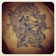 Disponível #liontattoo #lion #indian #mandala #tattoo #tatuagem #tatuagens #ink…