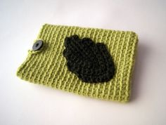 Green leaf Iphone case by knittingcate on Etsy, $18.00