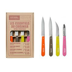 Loving these clean and colorful mid-century-inspired kitchen knives. Perfect for an outdoor garden party!