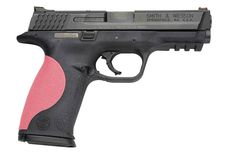 Smith and Wesson 9mm with a pink grip! Mine will be a M .40 Buying in the near future!