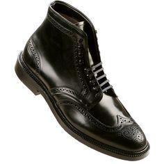 Alden Men's 9 Eyelet Wing Tip Boot Shell Cordovan Style #: 4465H | #TheShoeMart #Alden #Shoes