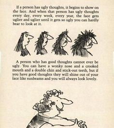 Show off your INNER LAYERS!  From Roahld Dahl's book, The Twits