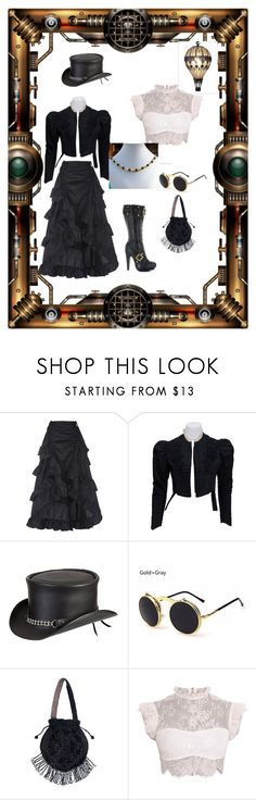 """A Steampunk Afternoon"" by rivendellrockjewelry on Polyvore featuring Overland Sheepskin Co."