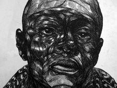 Toyin Odutola  etching