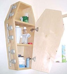 ☆ Coffin Style Bathroom Medicine Cabinet -::- By Coffin It Up ☆