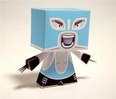 Blog Paper Toy papertoy El Luchador Zerolabor picture El Luchador by Zerolabor