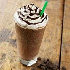 Like Starbucks frappe Chocolate Chip Frappuccino: Recipe: of cup chocolate chips 3 tablespoons chocolate syrup, 2 cups of ice, and teaspoon vanilla extract.