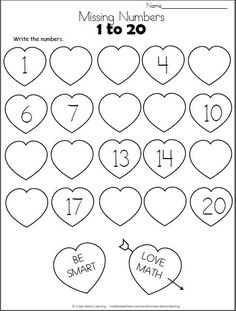 Free number sequence within 10 worksheets suitable for