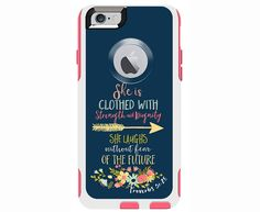 Proverbs 31:25 Custom Otterbox Commuter Case for iPhone 6/6s PLUS, iPhone 6/6s, iPhone 5c, iPhone 5/5s, Galaxy S5, Galaxy Note 4