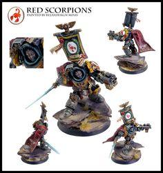 Commander, Culln, Forge World, Games Workshop, Red Scorpions, Space Marines, Warhammer 40,000, Warhammer Fantasy