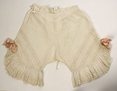 Underpants (Drawers)  Date: 1900s Culture: American Medium: cotton